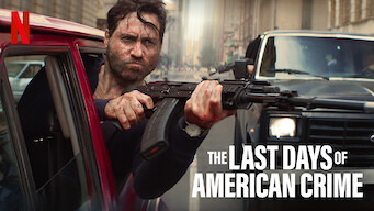 The Last Days Of American Crime 2020 Netflix Flixable